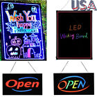 Flashing Illuminated Erasable Neon LED Message Menu Writing Sign Board w/Remote
