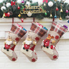 Hot Santa Claus Christmas Stocking Xmas Hanger Ornaments Plush Candy Bag Decor