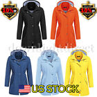 Women Rain Mac Waterproof Festival Jacket Ladies Anorak Hood