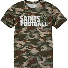 New Orleans Saints Youth Camo Sublimated Synthetic T-Shirt