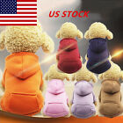 US Pet Puppy Warm Hoodie w/ Pocket Sweaters Jumper Coat Small Dogs Cat Apparel