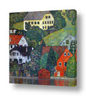 Houses At Unterach by Gustav Klimt | Ready to hang canvas | Wall art print