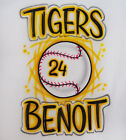 Baseball Airbrush Shirt - Name, Team Name, and Number Included