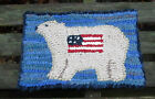 POLAR BEAR AMERICANA Primitive Rug Hooking KIT WITH #8 CUT WOOL STRIPS