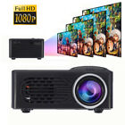 3D 1080P Full HD Mini Projector LED Multimedia Home Theater USB VGA HDMI TV AV Z
