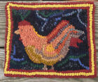 BEGINNER ROOSTER Primitive Rug Hooking KIT WITH #8 CUT WOOL STRIPS