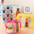 Women Cosmetics Bags Zippered Pvc Waterproof Clear Toiletry Bag For Travel S