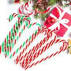 10x Christmas Acrylic 12cm Candy Cane Xmas Tree Hanging Wreath Decoration