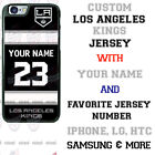 LOS ANGELES KINGS HOCKEY JERSEY PHONE CASE COVER FITS iPHONE SAMSUNG etc NAME/# $23.98 USD on eBay