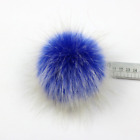 10cm Faux Raccoon Fur Pom Pom Ball Large with Press Button for Knitting Hat DIY