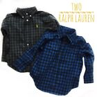 Toddler Boy Ralph Lauren Button Down Dress Shirt Plaid Size 2T LOT of 2