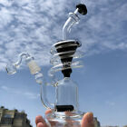 Spiral Percolator Handcrafted Bongs Recycler Pipes with quartz banger