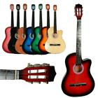 """New 38"""" 19 Frets Right Handed Beginner School Student Cutaway Acoustic Guitar"""