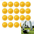 50pcs Yellow Hollow Plastic Practice Golf Balls Golf-Wiffle Balls Air Flow Balls