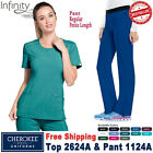 Внешний вид - Cherokee Scrubs Set INFINITY Round Neck Top & Pant_2624A/1124A_Regular/Petite