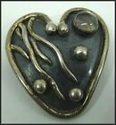 Vintage .terling Silver Brooch Pin Signed KT or HT Possibly Norway or Denmark