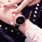 New Fashion Women 's Leather Band Analog Quartz Diamond Wrist Watch Watches image