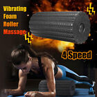 4 Speed Intensity Electric Yoga Vibrating Foam Roller Body Muscle Relax Massager