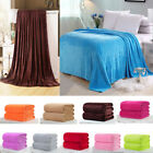 Solid Color Plush Diamond Throw Soft King Cozy Flannel Blanket Full Super Queen image