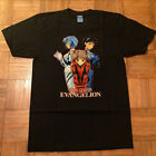 RARE-VINTAGE NEON GENESIS EVANGELION 90s anime t-shirt akira Ghost in the Shell. image