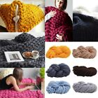 DIY Soft Chunky Wool Yarn Super Bulky Arm Knitting Blanket Roving Crocheting US image