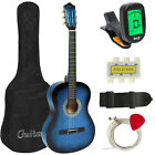 BCP 38in Beginner Acoustic Guitar Musical Instrument Kit w- Case  Strap  Tuner