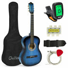 Внешний вид - BCP 38in Beginner Acoustic Guitar Musical Instrument Kit w/ Case, Strap, Tuner