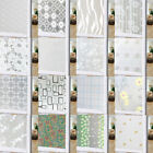 100*45cm Pvc Frosted Glass Window Privacy Film Sticker Bedroom Bathroom Huang