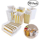 UK 50PCS Popcorn Boxes Candy Sweet Paper Treat Bag Movie Party Birthday Supplies