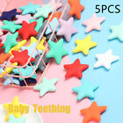 Star  Silicone  Baby  Teething Teether Necklace Chewable Beads Pacifier Pendent