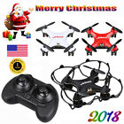 Nano Quadcopter Mini Pocket RC Drone 2.4Ghz 6-Axis Gyro LED Helicopter Xmas Gift