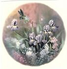 Hummingbird Lavender Iris Flower Select-A-Size Ceramic Waterslide Decals Xx image