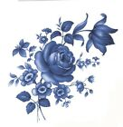 Delft Blue Rose Swag Flowers Select-A-Size Waterslide Ceramic Decals Xx  image