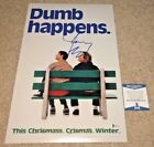 JIM CARREY SIGNED 12X18 MOVIE POSTER PHOTO DUMB AND DUMBER HAPPENS ACTOR BAS