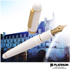 Platinum #3776 CENTURY CHENONCEAU WHITE 14K Fountain Pen PNB-13000 from Japan