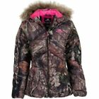 NEW! Women MOSSY OAK Camo Camouflage Bubble Fur Jacket Coat w/ Pink S XL 2XL