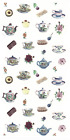Teapot Tea Cup Flower Bits Select-A-Size Waterslide Ceramic Decals Xx  image