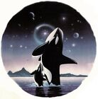 Midnight Moon Orca Whale Mama Baby Select-A-Size Waterslide Ceramic Decals Xx image