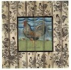 Early Riser Rooster B Square Select-A-Size Waterslide Ceramic Decals Xx  image