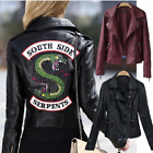Women Riverdale Leather Motorcycle Jackets South Side Serpents Printed
