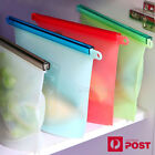 8x Reusable Silicone Seal Food Storage Food Preservation Bags Container Airtight