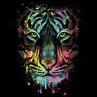 Dripping Tiger Size Youth Small-6 X Large T Shirt Pick  Size image