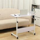 Desk Laptop Cart Rolling Computer Table Notebook Stand Tray Adjustable w/ Wheel