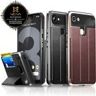For Google Pixel 4 3 2 Vena【vCommute】Leather Wallet Dual Layer Stand Card Case