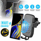 Fast Wireless Car Charger Gravity Air Vent Mount Holder for Samsung S9 S8 Note 9