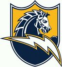 Los Angeles Chargers #12 NFL Team Logo Vinyl Sticker Car Window Wall Cornhole $13.86 USD on eBay
