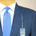 42S SAVILE ROW Blue Check 3 PIECE SUIT SEPARATE  42 Short - SS46a