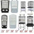 "23""37"" 57"" 39"" 63"" 64"" 68""Small Large Bird Cage Play Parrot Cage + Cup Food"
