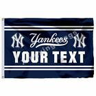 New York Yankees Custom Your Text Flag 3Ft X 5Ft Polyester Mlb Team Banner on Ebay