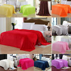 Sofa Soft Warm Solid Plush Fleece Bed Micromink Sherpa Reversible...
